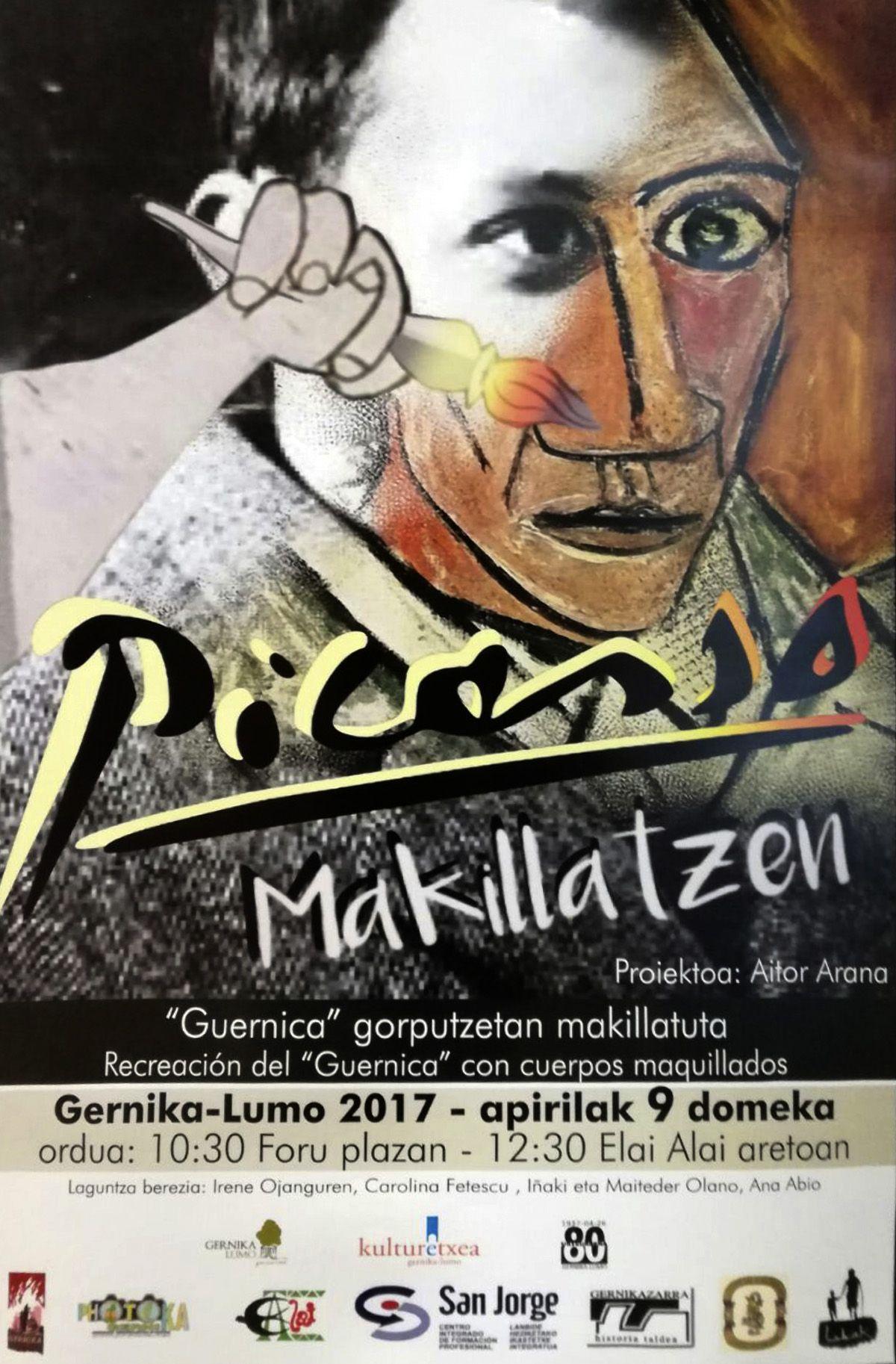 Picasso makillatzen